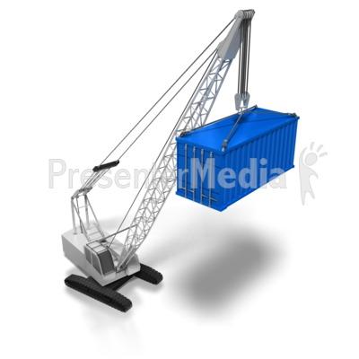 Construction Crane Side View.