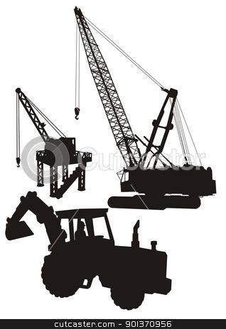 Construction site stock vector.