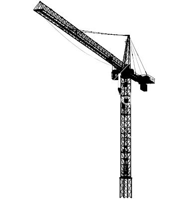 Crane clipart silhouette.