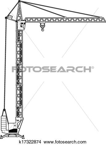 Clipart of crane tower k17322874.