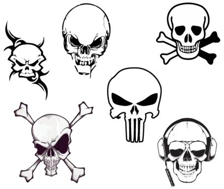 Cráneos Vector libres Clipart Picture Free Download.