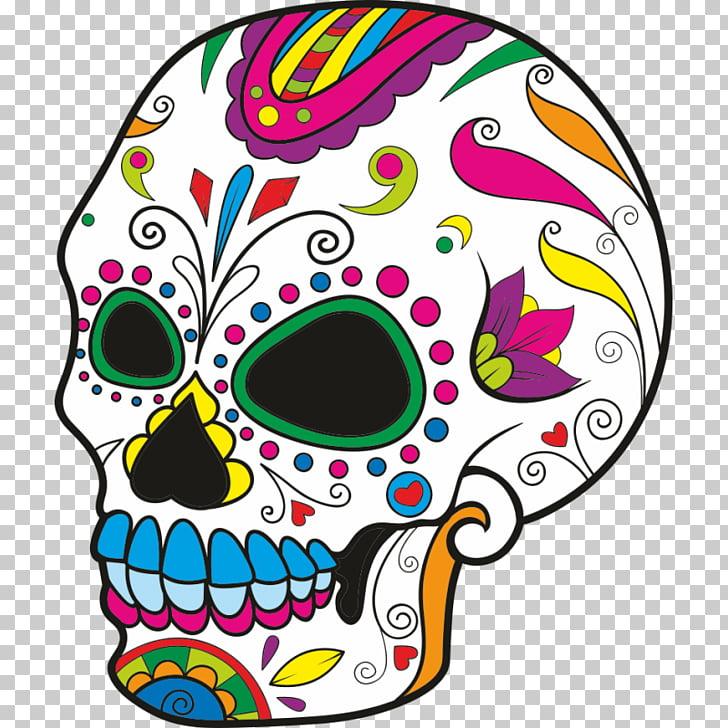 Calavera de azúcar cráneos libro para colorear día de los.