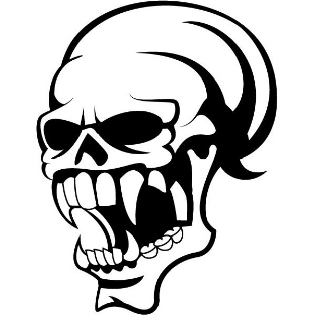 Skull Frontal bone clip art about halloween dangerous element.