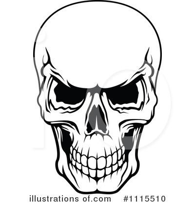 Scary skull clipart.