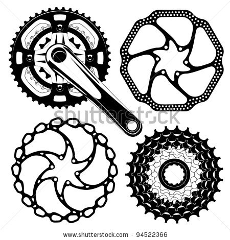 Bicycle crank clipart.
