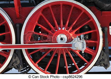 Stock Image of crank locomotive.