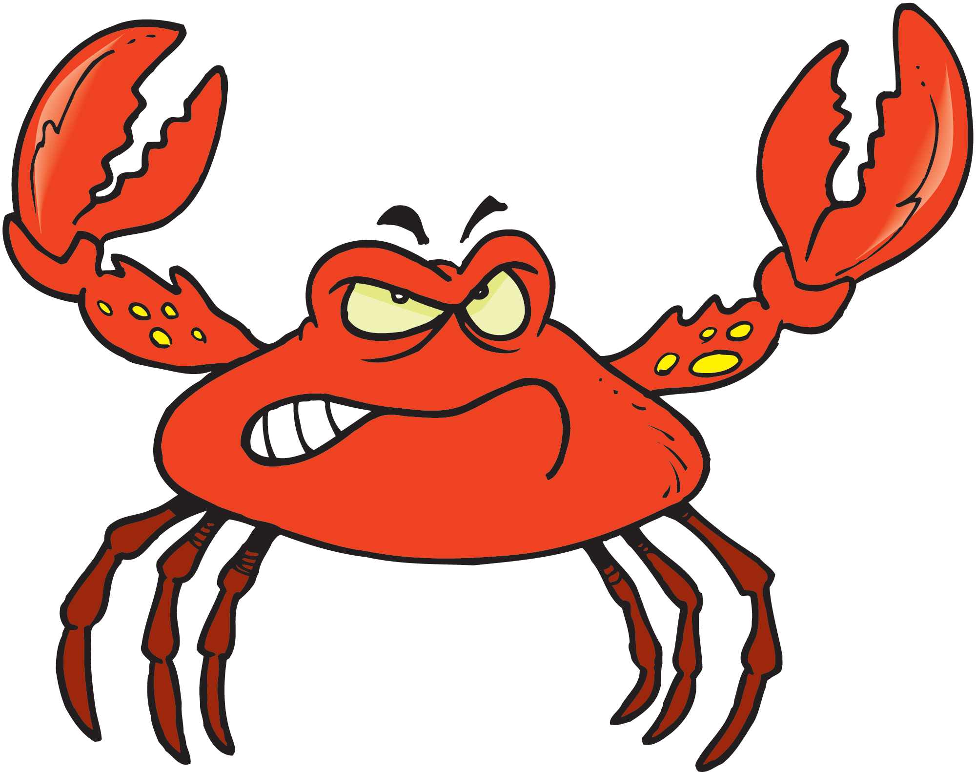 Crab Cartoon.