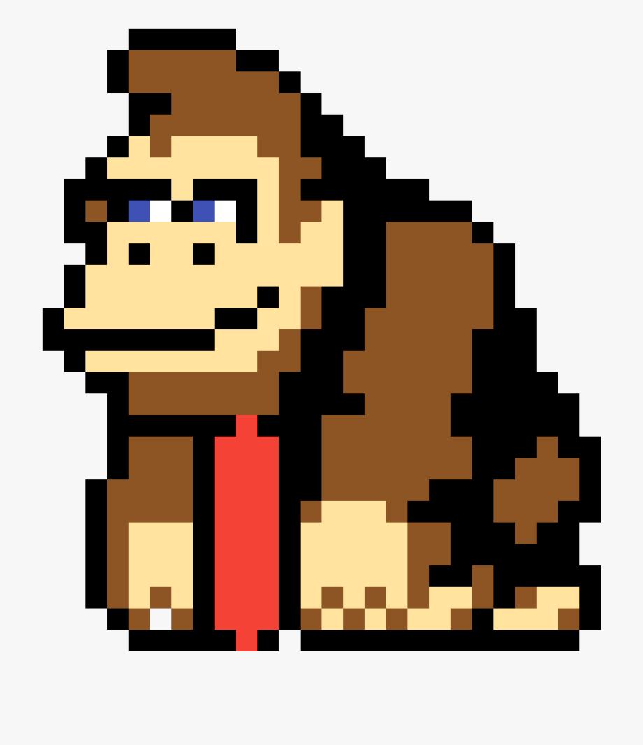 Donkey Kong Country Pixel Art , Transparent Cartoon, Free.