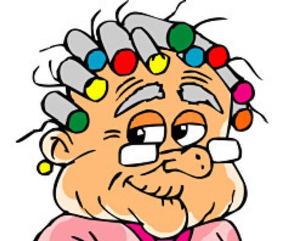 Funny granny clipart.