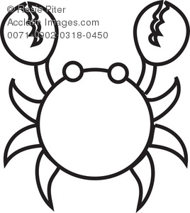 Crap Coloring Page Royalty Free (RF) Clip Art Picture.