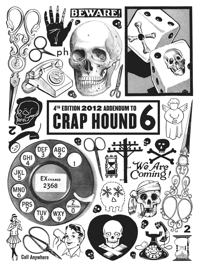 Crap Hound #6: Death, Telephones & Scissors! by Chloe Eudaly.