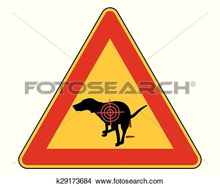Clipart of Aim at dogs crapping k29173684.