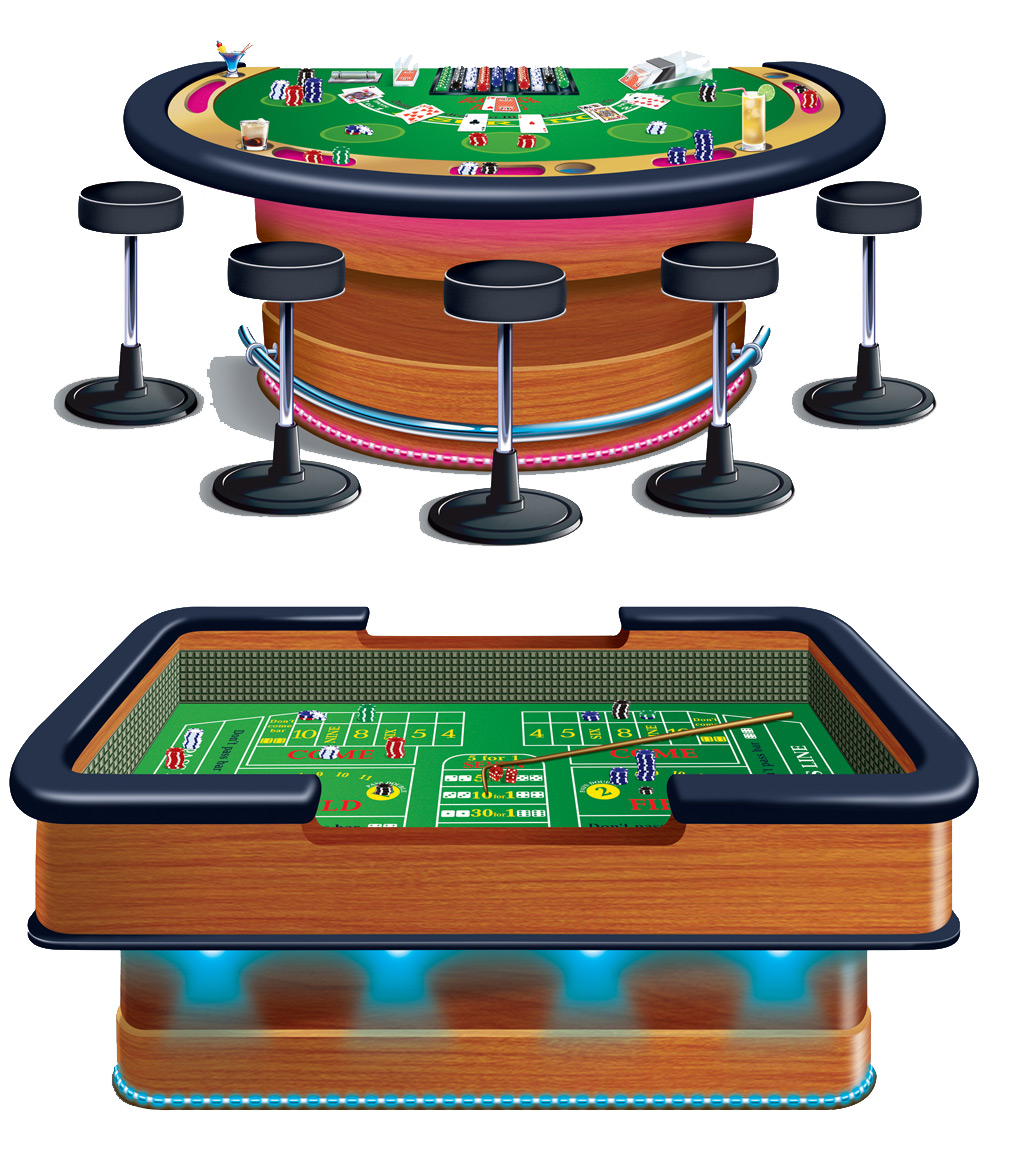 Craps casino table.