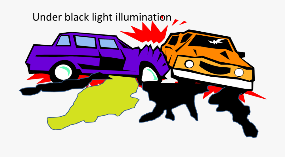 Car Crash Black Light.