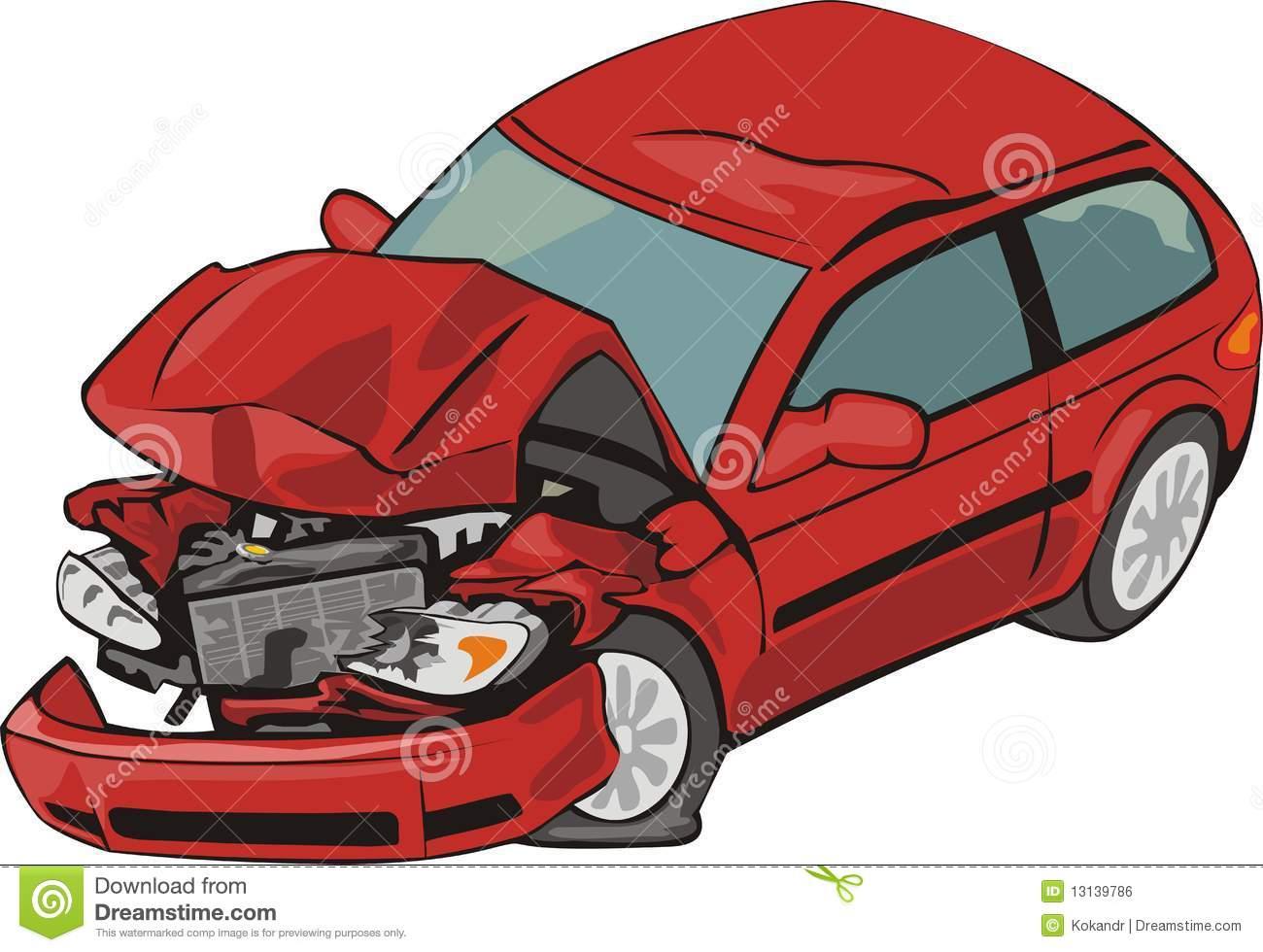 Crash car stock vector. Illustration of damage, front.