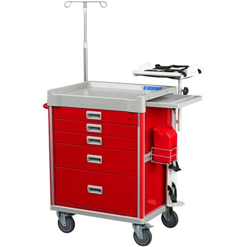 Ergosol Emergency Crash Cart 690x5200x930mm.