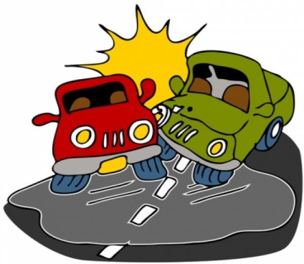 Race car crash clipart.