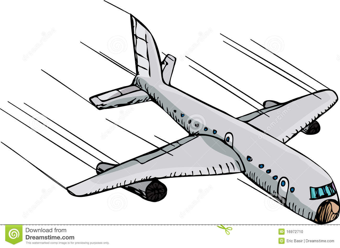 Clipart crash avion.