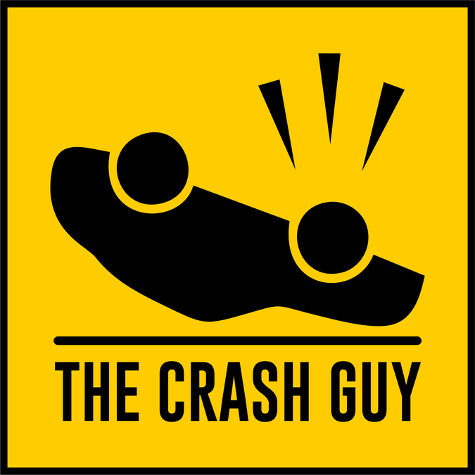 Design a logo for a blog about car crashes and traffic.