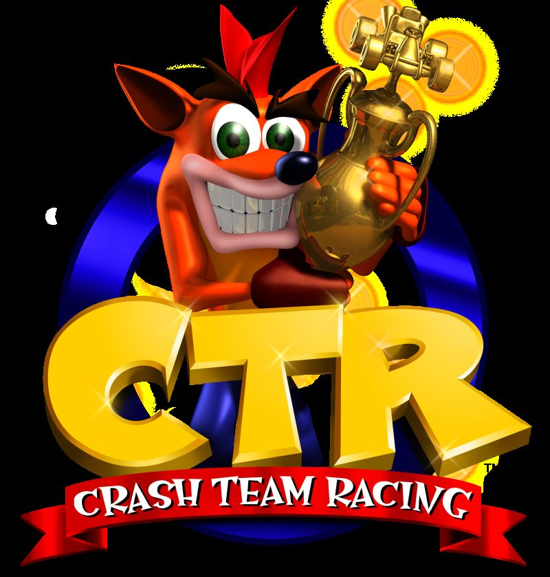 CTR: Crash Team Racing (1999) promotional art.