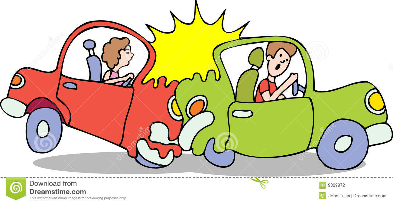 Cars crashing clip art.