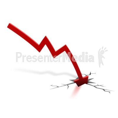 Red Arrow Down Crash.