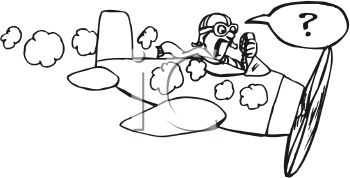 pilot clipart black and white #3