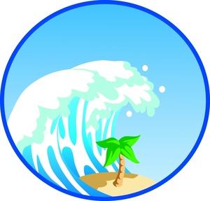 Crashing Waves Clipart.