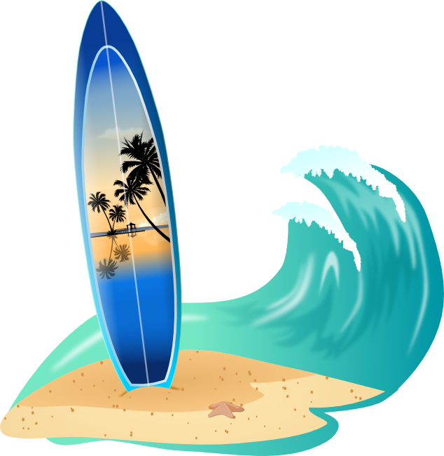 Crashing Waves Clipart.