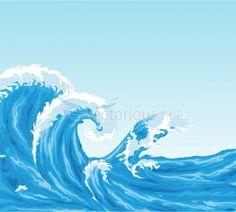 Crashing wave clip art.