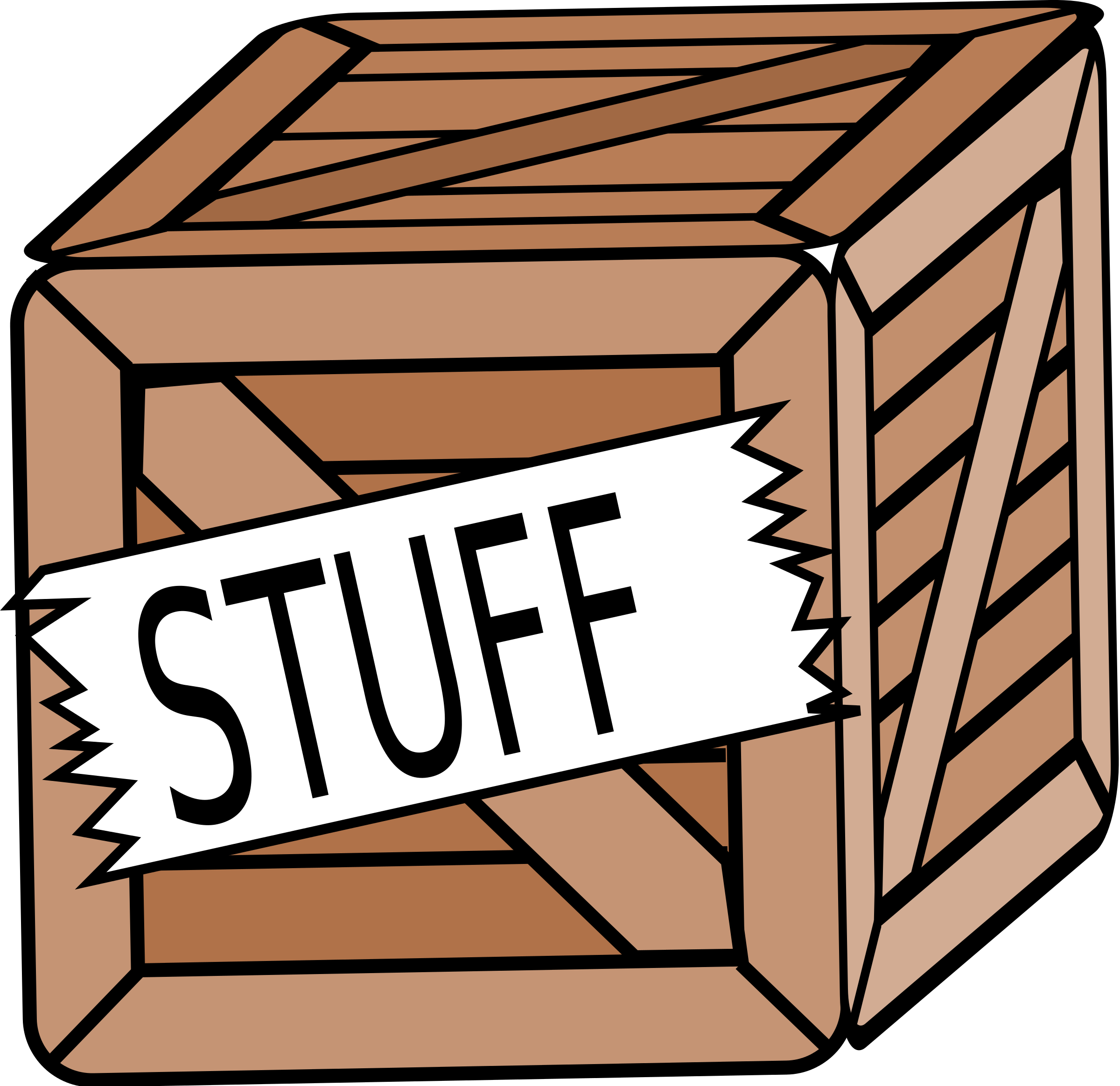 Crate Clipart.