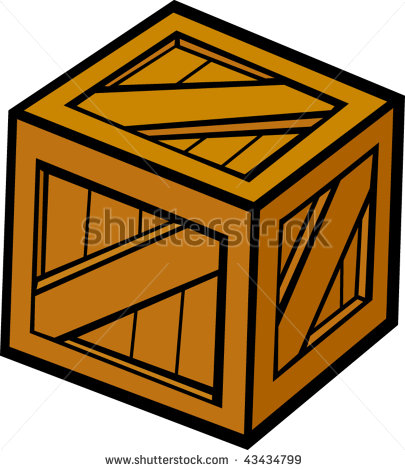 Wooden Crate Clipart.