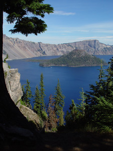 Crater Lake Photo Clipart Image.