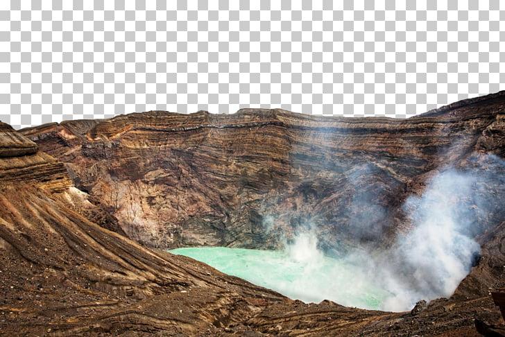 Mount Aso Volcanic crater Stock photography, Japan Kyushu.