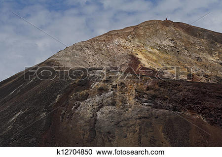 Stock Photography of Cerro Negro along crater rim k12704850.