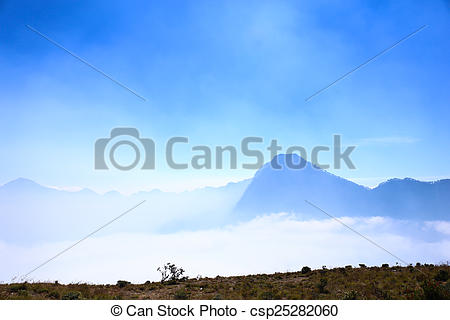 Stock Image of Mount Rinjani Crater Rim csp25282060.