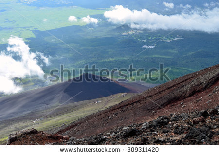 View From The Top Of Mt. Fuji : The Trail Of Crater Rim (Ohachi.