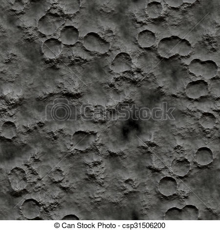 Stock Illustration of Seamless Texture crater surface pattern.