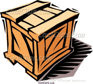 wooden crate Vector Clip art.