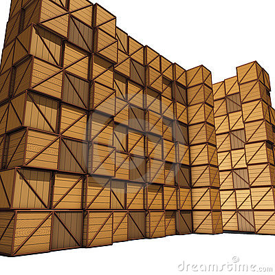 Wooden Crates Stock Illustrations.