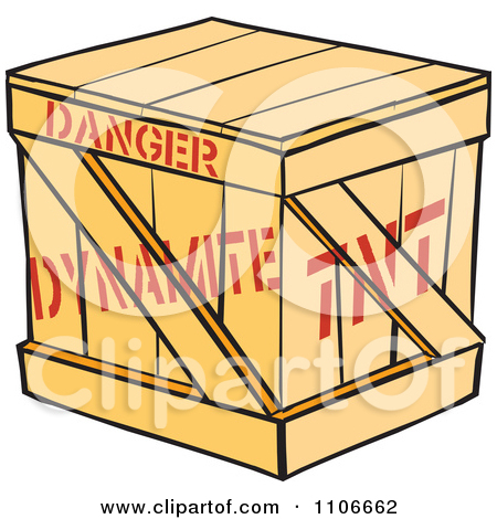 Clipart Dynamite Crate.