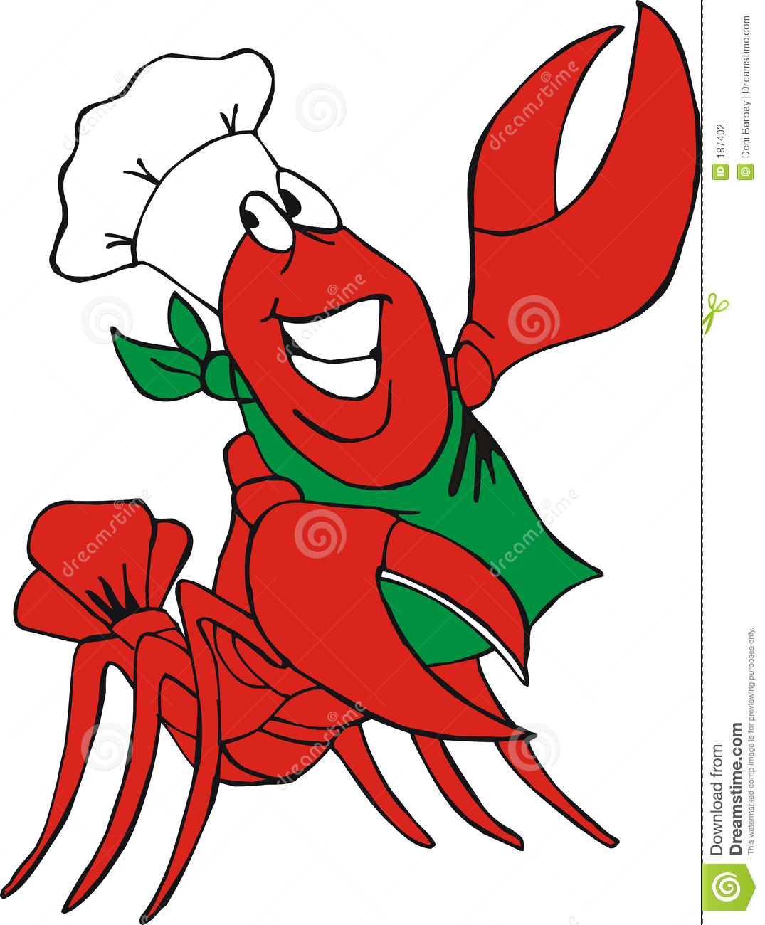 Cajun Crawfish Clipart.