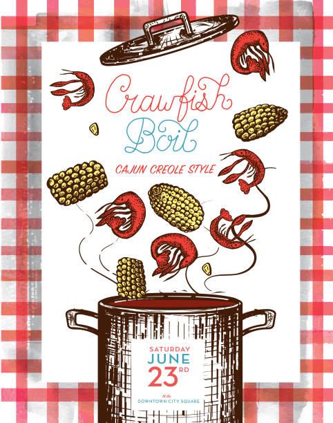 Best Crawfish Boil Illustrations, Royalty.