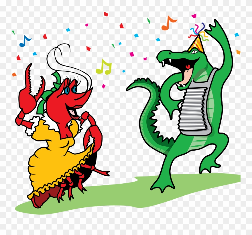 Dancing Crawfish And Graphic Clip Art Vector.