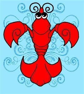 Crawfish Logo Clip Art.