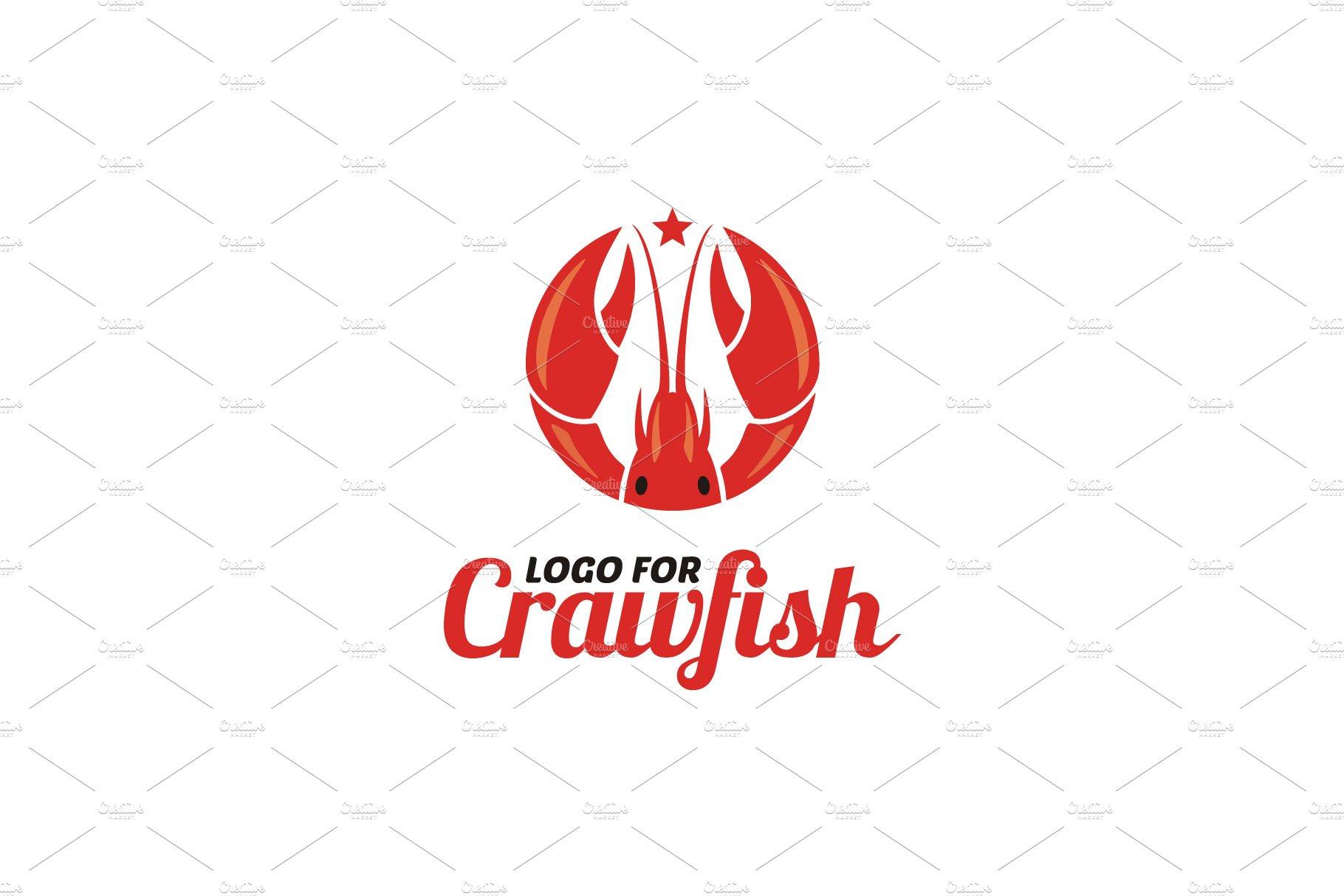 Crawfish Shrimp Lobster Seafood Logo.
