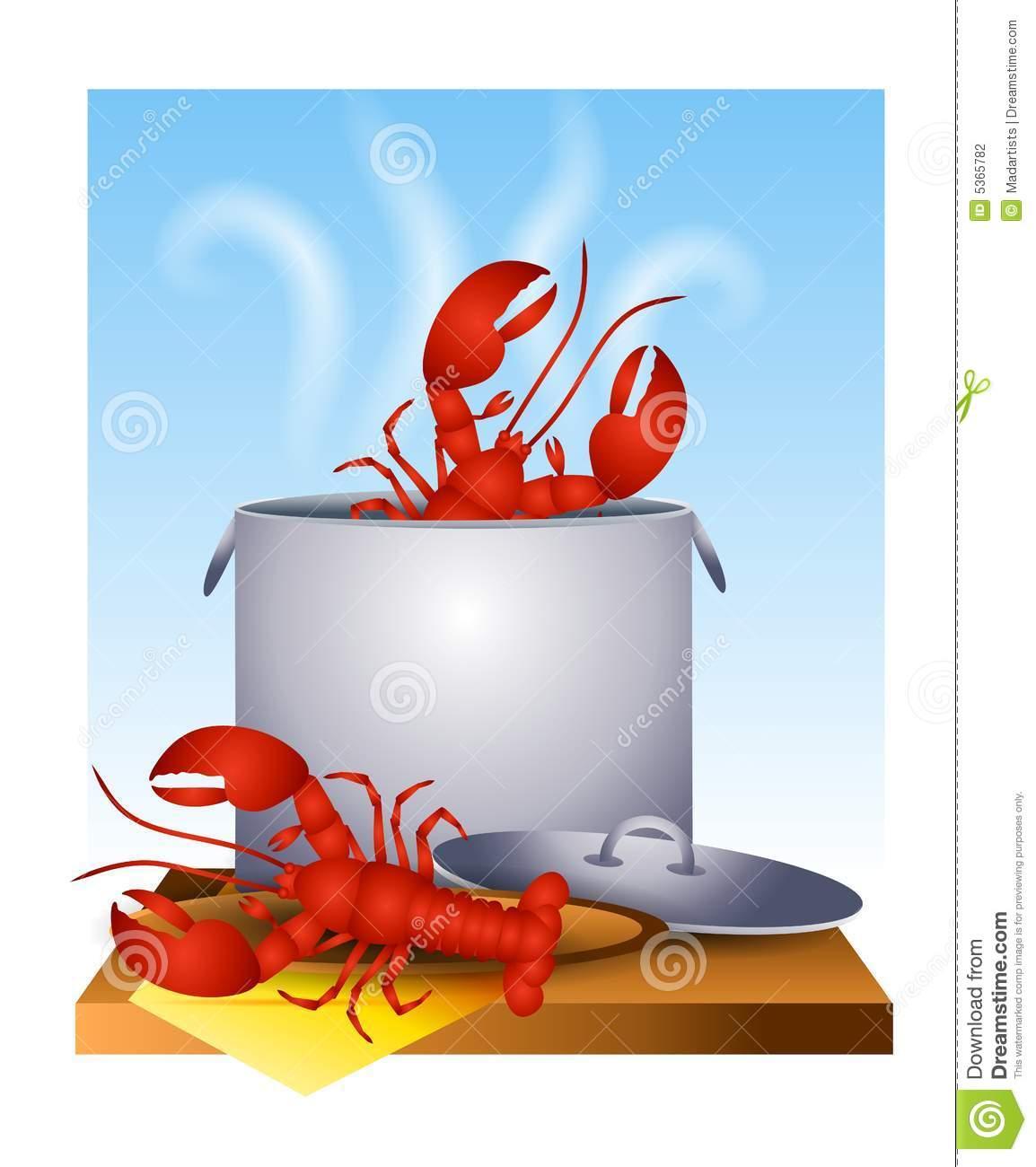 Lobster Pot Clipart.