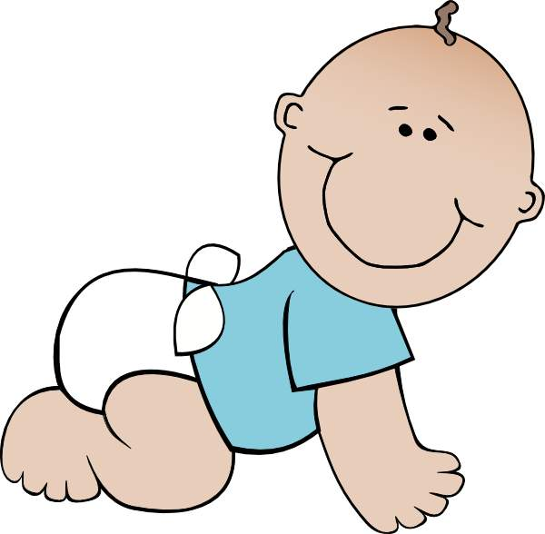 Baby crawl clipart.