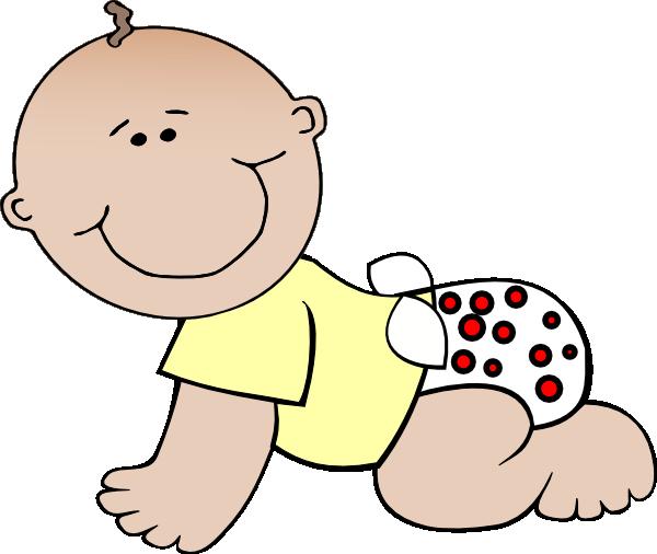 Crawling baby clip art.