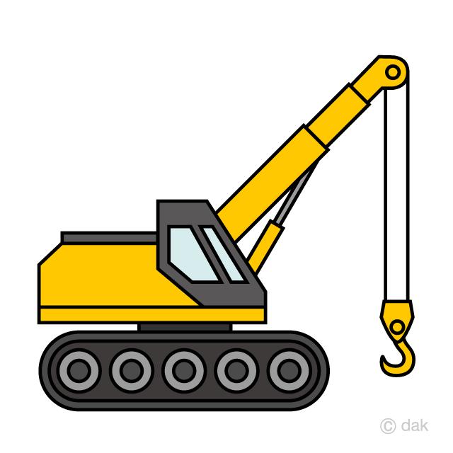 Free Simple Crawler Crane Clipart Image Illustoon.